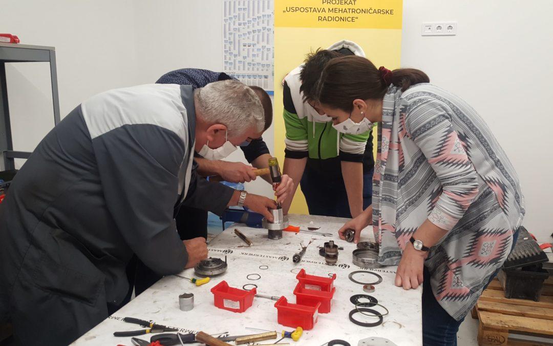 Okončanje prvog ciklusa projekta Uspostava mehatroničarske radionice