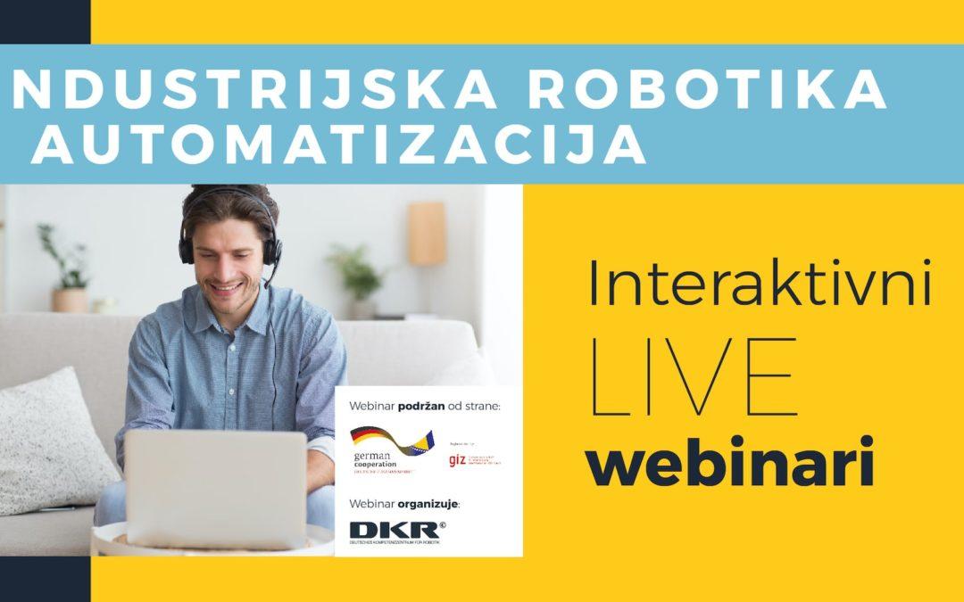 """Webinari na temu """"Industrijska robotika i automatizacija"""""""